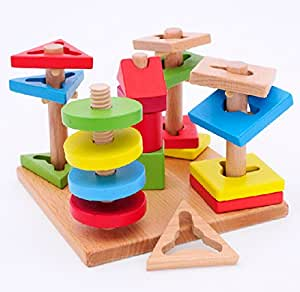 Column sleeve column matching game 2 3 years old children toys baby