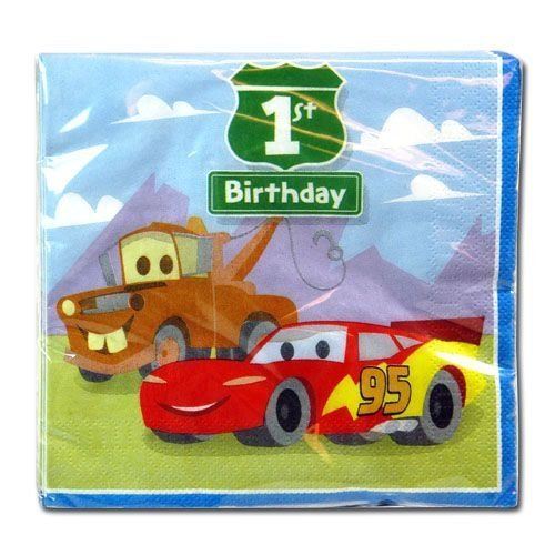 Disney Cars 1st Birthday Luncheon Napkins 16ct