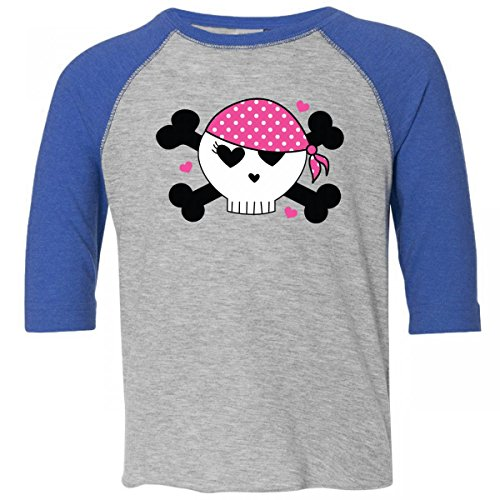 Inktastic Little Girls' Skull Pirate Valentine Toddler T-Shirt