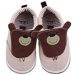 Aivtalk Kids Newborn Baby Soft Bottom Soft Sole Toddler Shoes Little Kid Indoor Shoes Size 12 - khaki