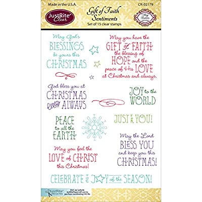 "JustRite Papercraft Clear Stamp Set 4""X6""-Gift Of Faith"