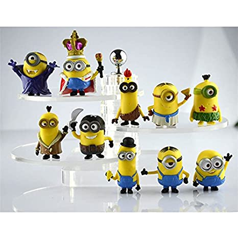 By Channeltoys - 10pcs figures Les minions - 3/5cm - moi moche et mechant - statue figurine - Neuf