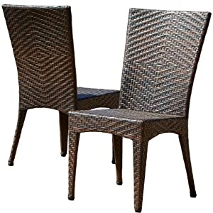 Best Selling Home Decor Kinsey Outdoor Wicker Chairs, Set of 2