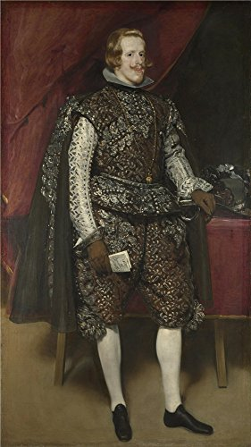 Oil Painting 'Diego Velizquez Philip IV Of Spain In Brown And Silver' 24 x 43 inch / 61 x 109 cm , on High Definition HD canvas prints is for Gifts And Bed Room, Dining Room And Hallway decor, home (Oasis Glue Dots compare prices)