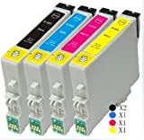 5 X T0441 High Capacity Black Compatible Ink Cartridges for Epson Stylus C64 C66 C84 C86 CX3600 CX3650 CX4600 CX6400 CX6600 Printers4 X T0441 High Capacity Black Compatible Ink Cartridges for Epson Stylus C64 C66 C84 C86 CX3600 CX3650 CX4600 CX6400 CX660