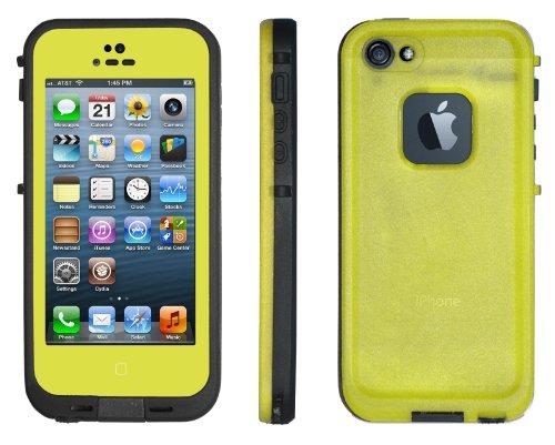 No brand iPhone5 5s 防水・防塵・防雪・耐衝撃のスーパーケース スーパースリム耐衝撃保護ケース アイフォン5 5s用 イエロー