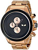 Vestal Men's ZR3005 ZR-3 Minimalist Oversized Gold Chronograph Watch from Vestal