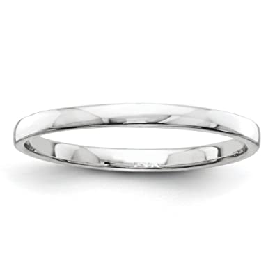 14ct White Gold Wedding Band Ring