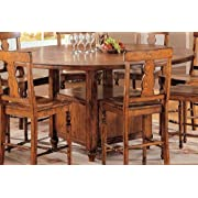 Tuscany Round Storage Gathering Table w Expandable Top