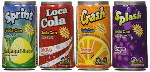 Kidsmania Soda Can Fizzy Candy 72 Can Variety Pack, 17.78 oz (Fizzy Candy Soda compare prices)