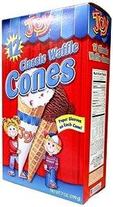 Joy Cone 12-Count CLASSIC WAFFLE Ice Cream CONES 7oz (10 Pack)