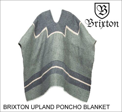 ブリクストン BRIXTON ブリクストン UPLAND PONCHO BLANKET GREY ポンチョ アクセサリー ストリート スケート メンズ