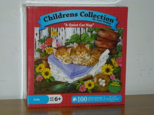 Childrens Collection Puzzle - A Quiet Cat Nap - Jane Maday - 100 Pieces