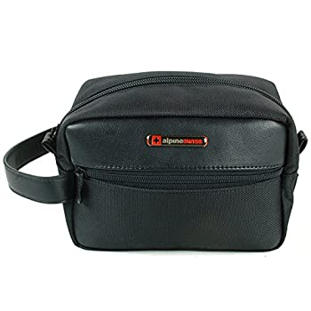 Alpine Swiss Hudson Mens Travel Leather Bag
