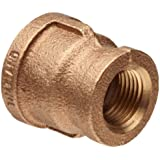 Brass Pipe Fitting, Class 125, Reducing Coupling, NPT Female