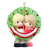 """Precious Moments, Christmas Gifts, """"Our First Christmas Together 2016"""", Bisque Porcelain Ornament, #161004"""