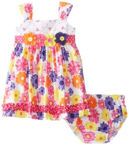 Nannette Baby-Girls Newborn 2 Pieces Floral Dress Set, Rosey Ring, 3-6 Months
