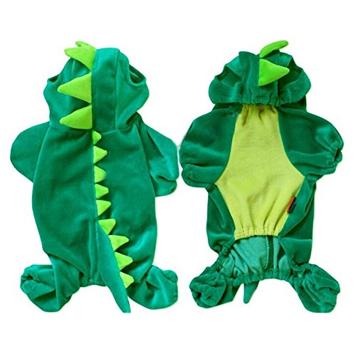 Stylish New Arrival Green Dinosaur Cotton Pet Dogs Coat Dogs Clothes- Size S front-926301