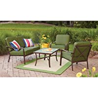 Crossman 4 Piece Patio Conversation Set Green Set 4 by Mainstays