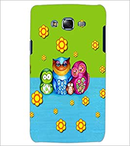PrintDhaba Owl D-3533 Back Case Cover for SAMSUNG GALAXY J5 (Multi-Coloured)