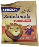 Barbaras Bakery Snackimals Animal Coookies, Chocolate Chip, 6-1 Ounce Packages (Pack of 6)