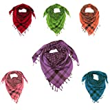 Trendy Star Scarf for Men and Women - Beautiful square cotton scarf - Available in Red, Orange, Pink, Green, Blue, Purple and White colours