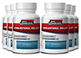 Cholesterol Relief Supplement Complex w/ Policosanol Plant Sterols (6 Bottles, 360 Capsules)