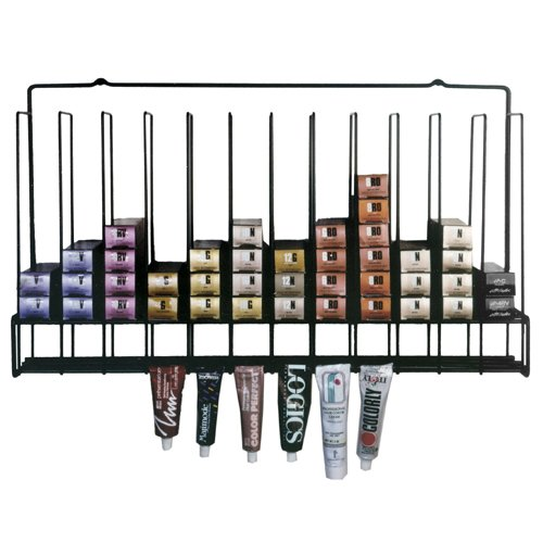 Salon hair color tube storage rack for A salon to dye for
