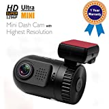 Arpenkin Mini 0805 Car Dash Cameras Ambarella A7LA50 Chip Super Hd 1296p Lens Mini Dvr For Cars With 16gb Storage...