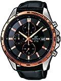 Casio - EFR-512L-1AVEF - Edifice - Montre Homme - Quartz Analogique - Cadran Noir - Bracelet Cuir Noir