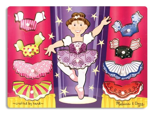 Picture of Fun Ballerina Dress Up Mix 'n Match Peg (B0029CW4MO) (Pegged Puzzles)