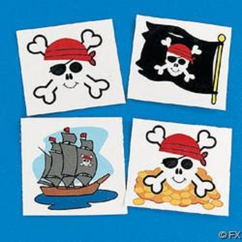 Lot Of 144 Pirate Temporary Tattoos Party Favors