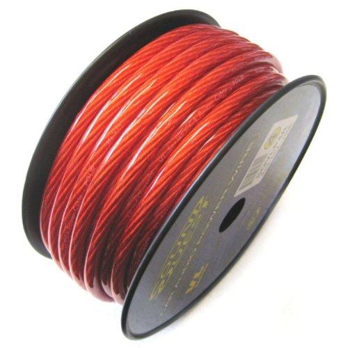 Soundquest Sqvlp8R 8 Gauge Cca Speaker Wire, Vinyl Matte Red