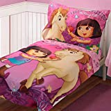 Dora Pony Adventures 4 Piece Toddler Bedding Set