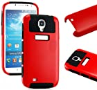 myLife (TM) Red and Black - Classic Tough Design (2 Piece Hybrid Bumper) Hard and Soft Case for the Samsung Galaxy S4 Fits Models: I9500, I9505, SPH-L720, Galaxy S IV, SGH-I337, SCH-I545, SGH-M919, SCH-R970 and Galaxy S4 LTE-A Touch Phone (Fitted Back Solid Cover Case + Internal Silicone Gel Rubberized Tough Armor Skin)