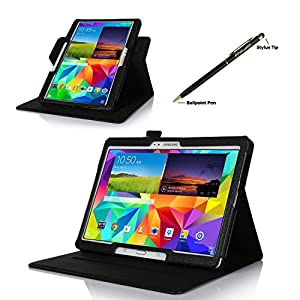 ProCase Samsung Galaxy Tab S 10.5 Dual View Case (horizontal and vertical display) - Rotating Cover Case with Stand exclusive for 2014 Samsung Galaxy Tab S (10.5 inch, SM-T800) Tablet (Black) from ProCase