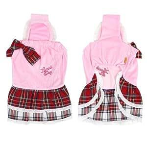 Pink Pet Dog Layered Tank Top Dress Apparel Clothing Skirts Size 4