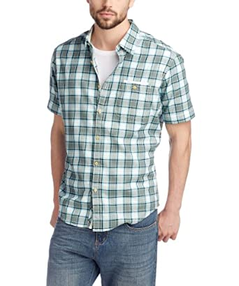 ESPRIT Herren Freizeithemd Regular Fit, kariert 063EE2F012, Gr. 48 (M), Grau (048 traffic grey)