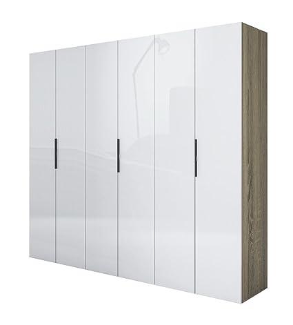 Armario seis puertas y trufas, lacado, color blanco