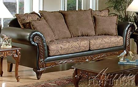 ACME 50335 Fairfax Sofa with Chocolate/Raisin Finish