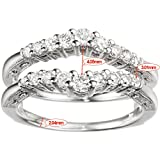 Silver-Vintage-Ring-Guard-with-Milgraining-and-Filigree-Designs-with-CZ-073-ct-twt