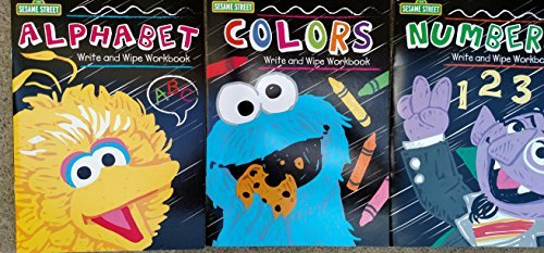 Sesame Street Write & Wipe Workbook (Assorted, Titles & Quantities Vary) Alphabet, Colors, and / or Numbers 123