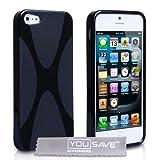 """iPhone 5 Silikon H�lle Gel X-Linie Tasche Schwarzvon """"Yousave Accessories�"""""""