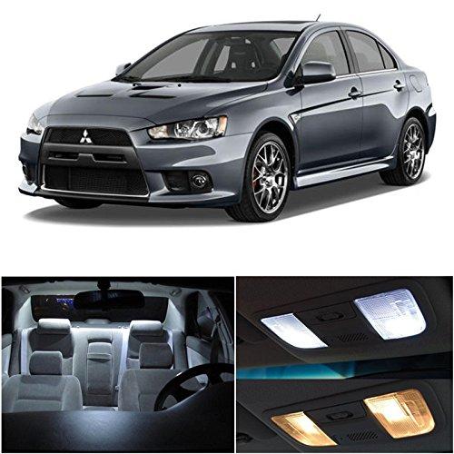 Lancer Evolution Evo X 2007-2014 Xenon White Premium Led Interior Lights Package Kit (6 Pieces)