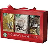 Starbucks Holiday Coffee Sampler (Holiday Blend, Caffè Verona, Café Estima Blend, Veranda Blend, Pike Place Roast & French Roast)