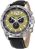 Stuhrling Original Men's Octane Concorso Chronograph Swiss Quartz Tachymeter Yellow Dial Watch - 210A.331518