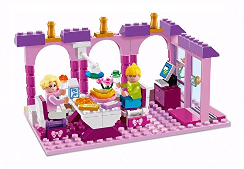 Xipoo Girls Building Block Delicious Restaurant Lunch Set, 197 Pieces, 6 Years and Up