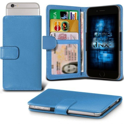 Samsung Galaxy J1 Ace Adjustable Spring Wallet ID Card Holder Case Cover (Baby Blue) Plus Free Gift, Screen Protector and a Stylus Pen, Order Now Best Valued Phone Case on Amazon! By FinestPhoneCases (Samsung Ace 2x compare prices)