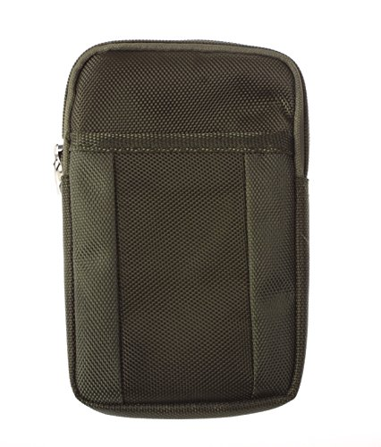 Big Dragonfly Sport Canvas Universal Multifunctional Mini Adjustable Mobile Phone / Camara Bag Pouch/ Purse With Key Ring And Two Inner Layers For Iphone5 5S 5C Iphone4 4S Samsung Galaxy Note2 Note3 S4 S3 Htc And Other Mobile Phone / Camara (Dark Olive Gr front-881309