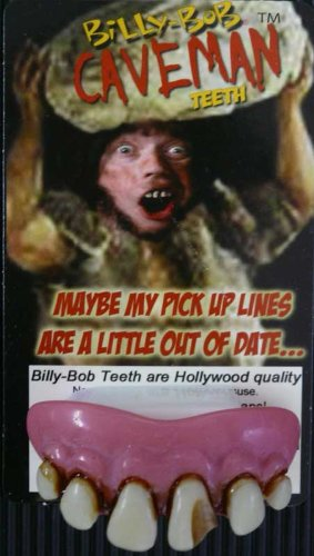 THE CAVEMAN TEETH! - Famous Billy Bob Caveman Costume Teeth - One Size